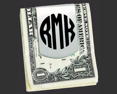 Monogram Money Clip | Groomsmen Gifts