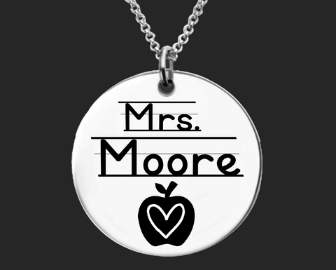 Personalized Teacher Necklace | Teacher Gift