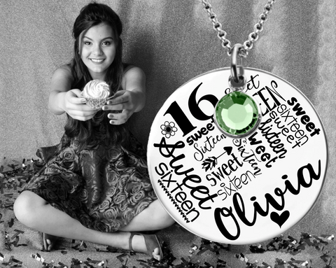 Sweet Sixteen Necklace | Sweet Sixteen Gifts | Sweet 16