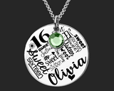 Sweet Sixteen Necklace | Sweet Sixteen Gift | Sweet 16