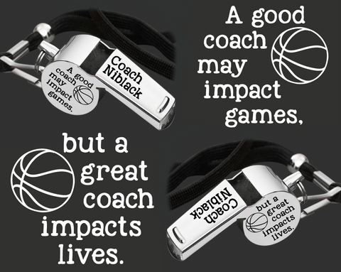 Personalized Coach Whistle | Gift for Coach | Personalized Whistles