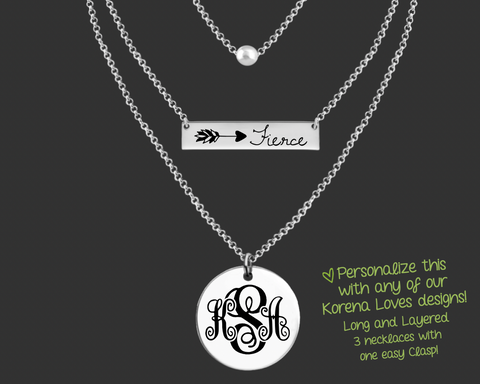 Choose Your Own Design Long and Layered Necklace