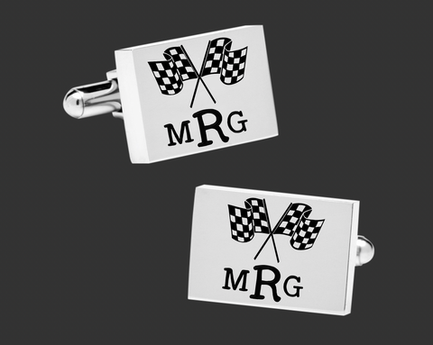 Racing Personalized Cuff Links