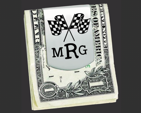 Racing Personalized Money Clip
