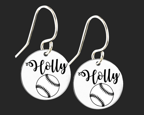 Personalized Softball Earrings | Korena Loves