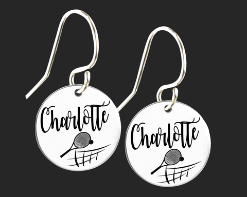 Personalized Tennis Earrings | Korena Loves