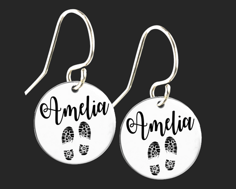 Personalized Track Earrings | Korena Loves