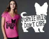 Yorkshire Terrier Dog Hair T-shirt