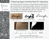 Your Own Handwriting Keychain | Handwriting Gifts