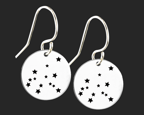 Aquarius Constellation Zodiac Earrings | Korena Loves