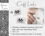 Culinary Personalized Cuff Links | Chef Gift