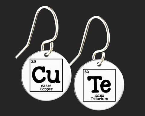 Cute Earrings | Periodic Table of Elements  | Korena Loves