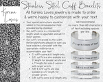 "3/8"" Design Your Own Personalized Bracelet"