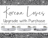 Bracelet Handwriting Upgrade: Only Purchase if Directed