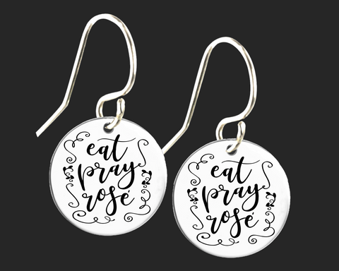Eat Pray Rosé Wine Earrings | Korena Loves