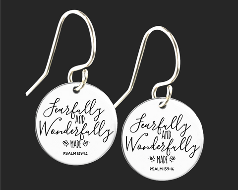 Fearfully and Wonderfully Made Earrings | Psalm 139:14 | Korena Loves
