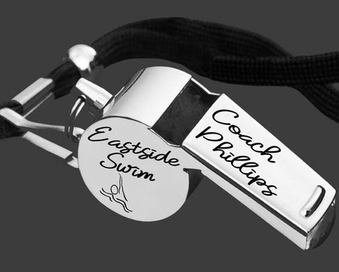 Swim Coach Whistle | Gift for Coach | Personalized Whistles