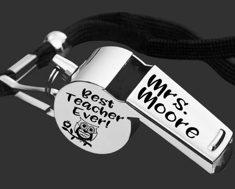 Teacher Whistle | Teacher Gift | Best Teacher Ever