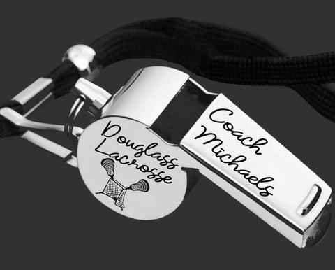 Lacrosse Coach Whistle | Personalized Whistle