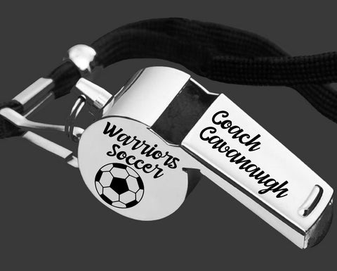 Soccer Coach Whistle | Personalized Whistle