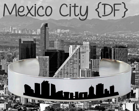 Mexico City DF Skyline Cityscape Bracelet