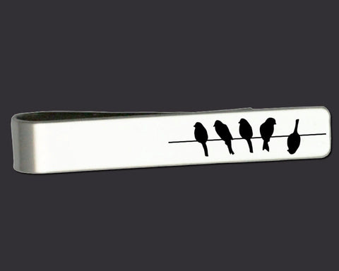 Birds on a Wire Tie Bar