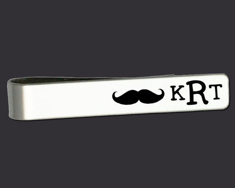 Mustache Personalized Tie Bar