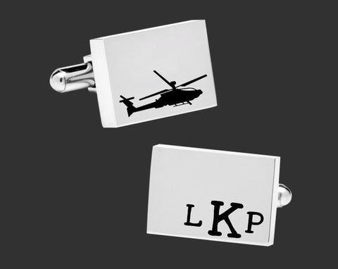 Helicopter Personalized Cuff Links
