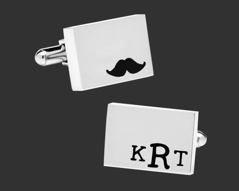 Mustache Personalized Cuff Links