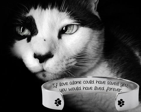 If Love Alone could have Saved You Bracelet | Cat Memory