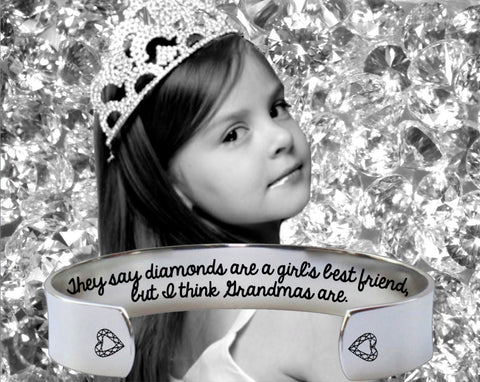 They Say Diamonds Bracelet | Grandmother Gift