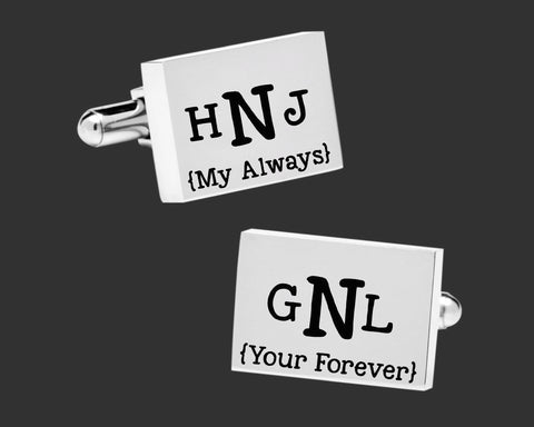 My Always Your Forever Cuff Links | Groom Gift