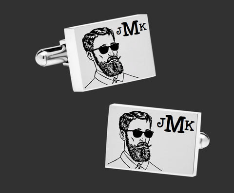 Hipster Monogram Cuff Links