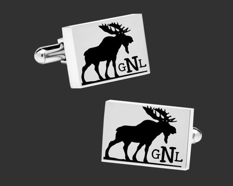 Moose Hunter Cuff Links