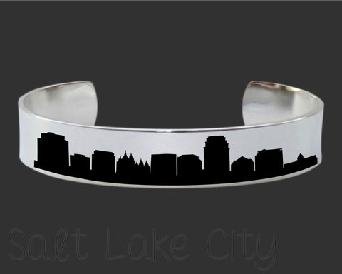 Salt Lake City Skyline Cityscape Jewelry