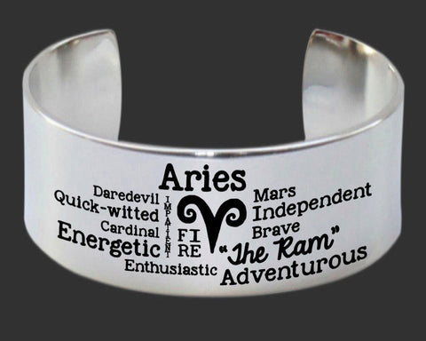 Aries Word Art Bracelet
