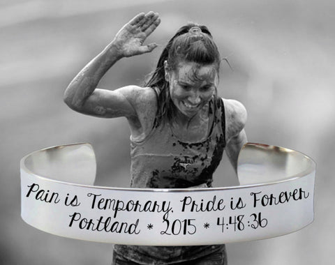 Pain is Temporary, Pride is Forever Marathon Bracelet