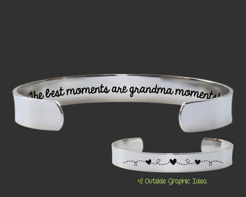The Best Moments Are Grandma Moments Bracelet