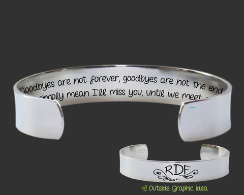 Goodbyes Are Not Forever Bracelet | Goodby Gift