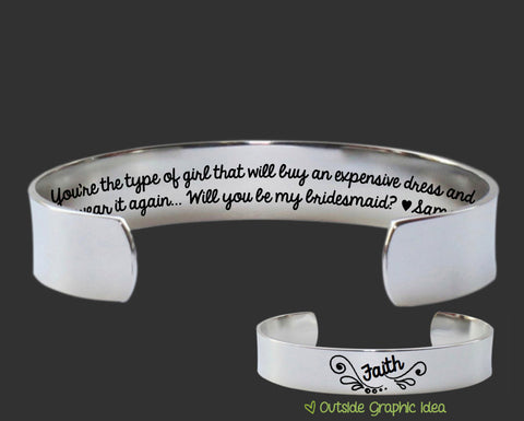 Will you be my Bridesmaid Bracelet | Bridesmaid Invitation Ideas