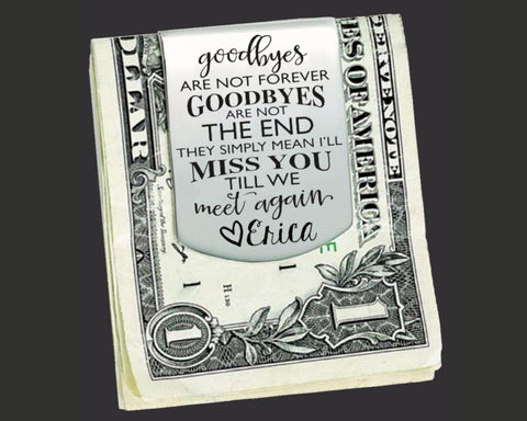 Goodbye Personalized Money Clip | Goodby Gift