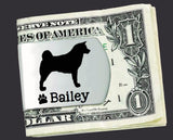 Akita Personalized Money Clip