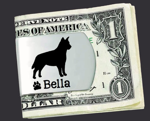 Australian Cattle Dog Personalized Money Clip