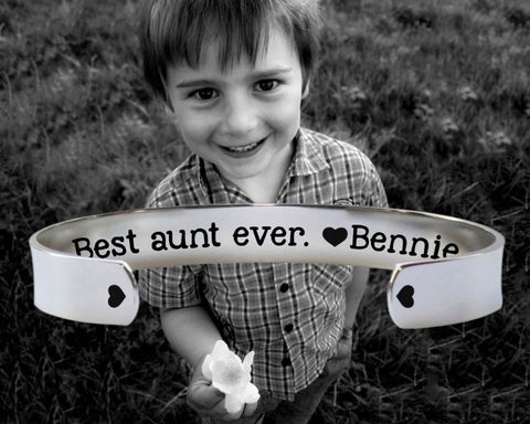 Best Aunt Ever Personalized Bracelet | Gift for Aunt