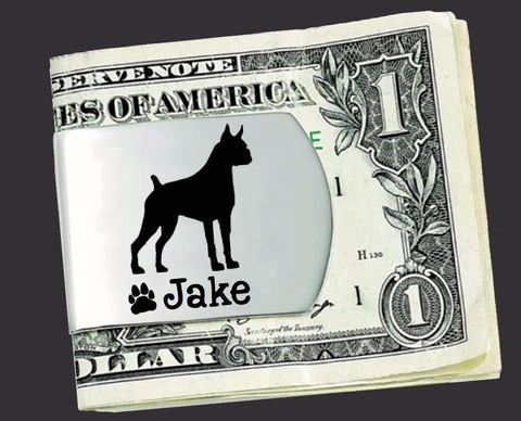 Boxer Personalized Money Clip