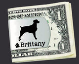 Brittany Dog Personalized Money Clip