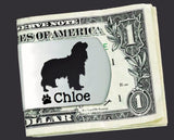 Cavalier King Charles Spaniel Personalized Money Clip