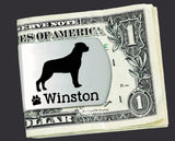 Rottweiler Personalized Money Clip