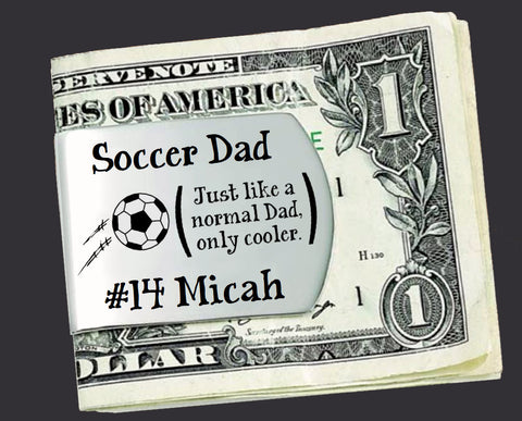 Soccer Dad Personalized Money Clip | Gift for Dad