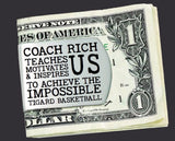 Basketball Coach Personalized Money Clip | Coach Gift
